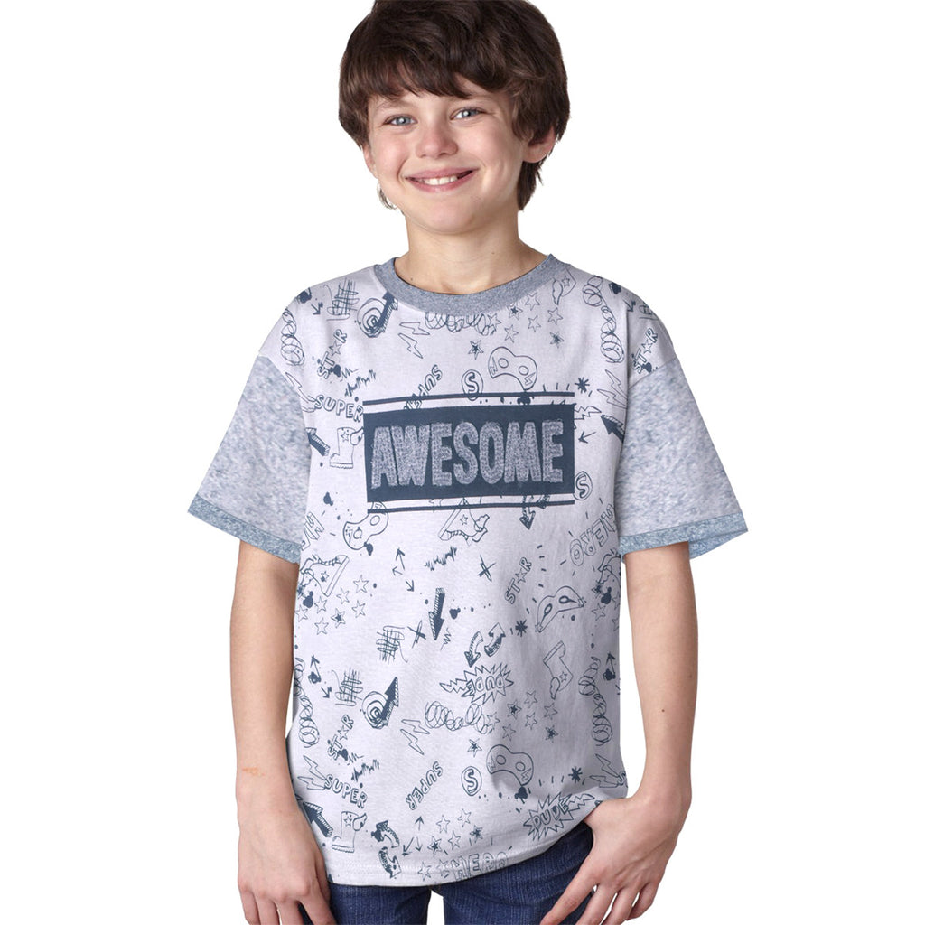 "Kids Oliver Duke ""Awesome"" Graphic T-Shirt - klashcollection - 1"