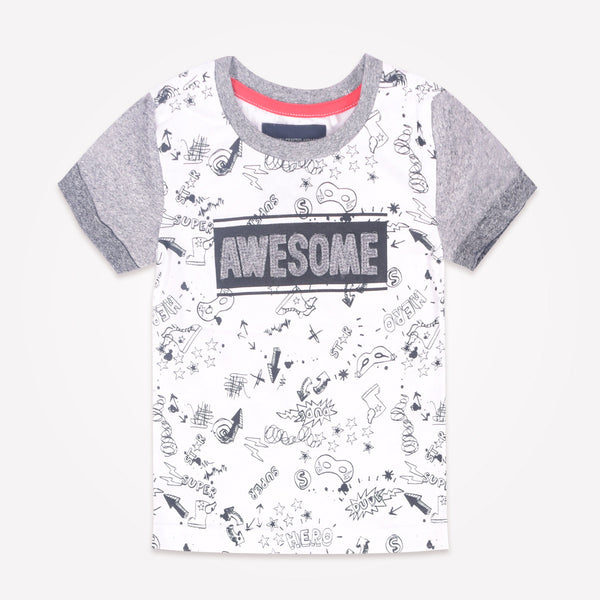 "Kids Oliver Duke ""Awesome"" Graphic T-Shirt - klashcollection - 2"