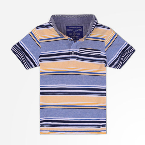 Kid's Henry James Classic Pattern Polo Shirt