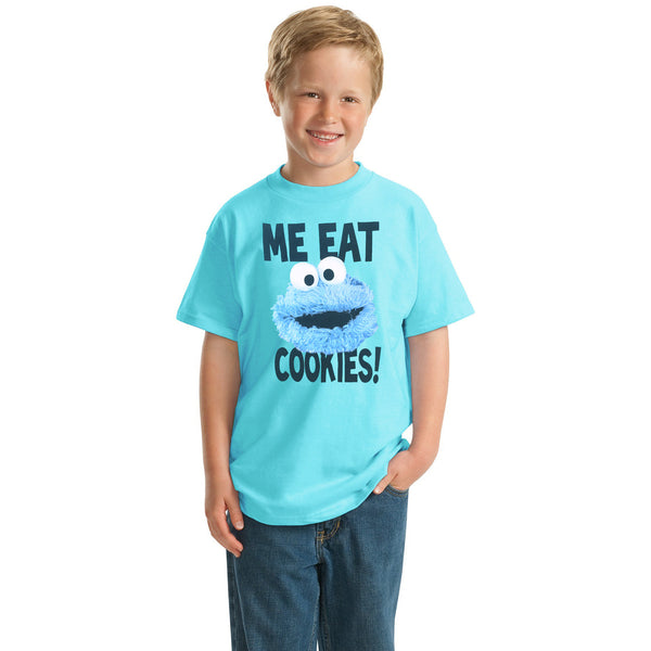 "Kids Oliver Duke ""Me Eat Cookie"" crew neck Graphic T-Shirt - klashcollection - 2"