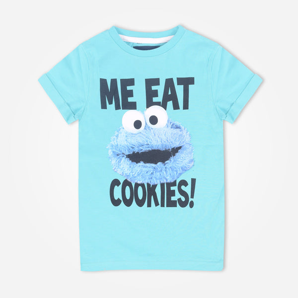 "Kids Oliver Duke ""Me Eat Cookie"" crew neck Graphic T-Shirt - klashcollection - 1"