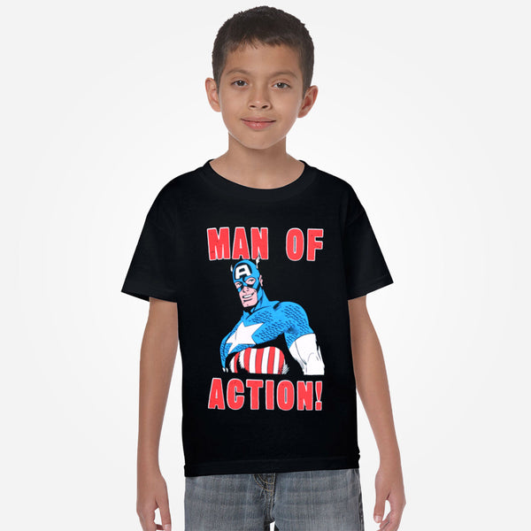 "Kids Oliver Duke "" Man Of Action"" Crew Neck Graphic T-Shirt - klashcollection - 2"