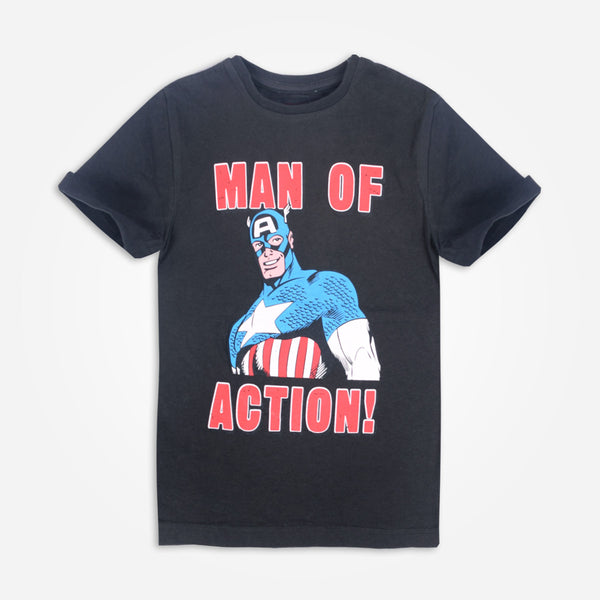 "Kids Oliver Duke "" Man Of Action"" Crew Neck Graphic T-Shirt - klashcollection - 1"