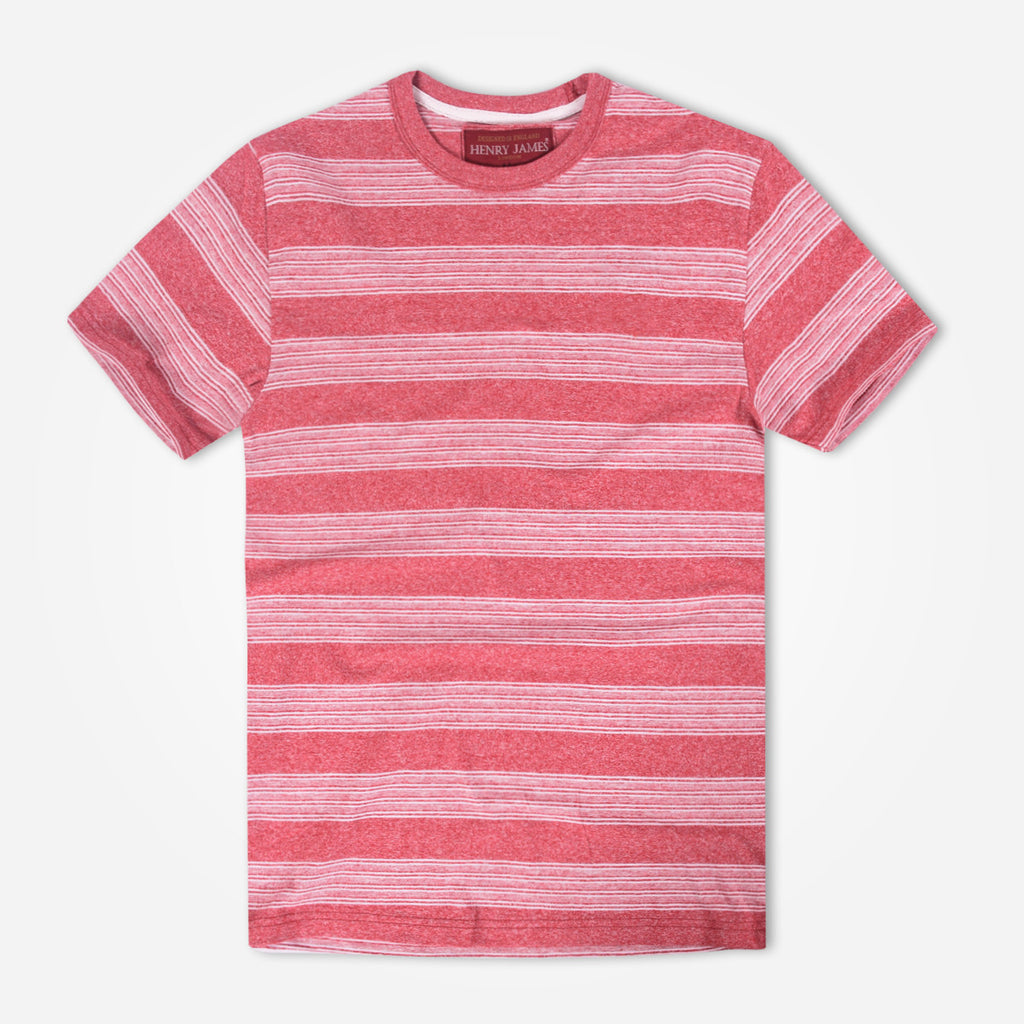 Men's Henry James Space Dyed Striped Crew neck T-Shirt