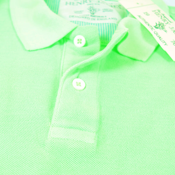 Men's Henry James Neon Short sleeve Polo Shirt - Neon Green - klashcollection - 6
