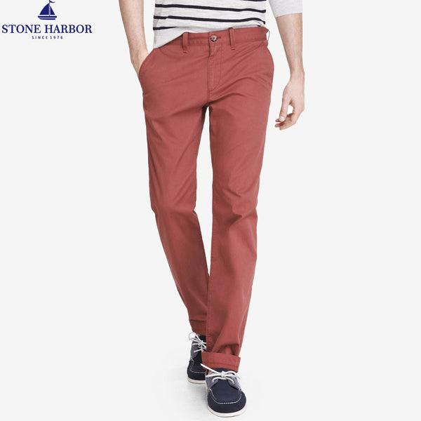 "Men's ""Stone Harbor"" Slim fit Cotton Chino Pant - Burnt Orange - klashcollection - 1"