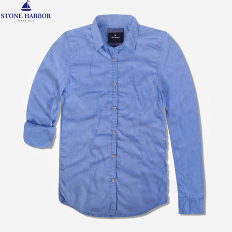 "Men's ""Stone Harbor"" Chambray Casual Shirt - klashcollection - 1"