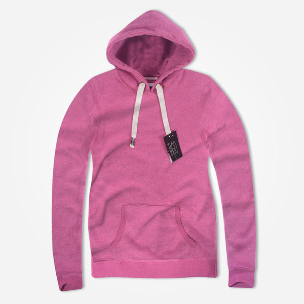 "Women ""TAGG"" Super Soft Heritage Hoody - Pink Marl - klashcollection - 1"