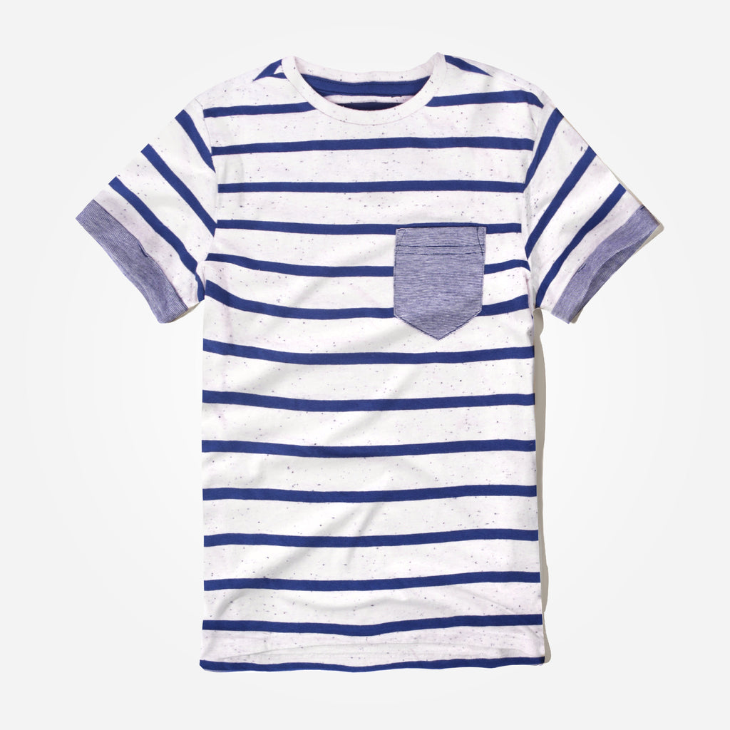 Kid's Oliver Duke Nap Yarn Striped Pocket T-Shirt - klashcollection - 1