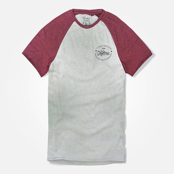 Men's Henry James Raglan Sleeved T-Shirt with Left Chest Print - klashcollection - 1