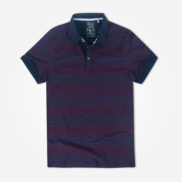 Men's Henry James Mamba Striped Polo Shirt - klashcollection - 1