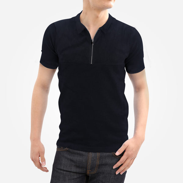 Men's Henry James Paneled Zipper Polo Shirt - klashcollection - 1