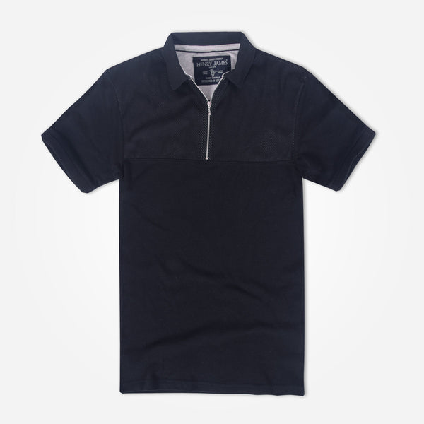 Men's Henry James Paneled Zipper Polo Shirt - klashcollection - 2