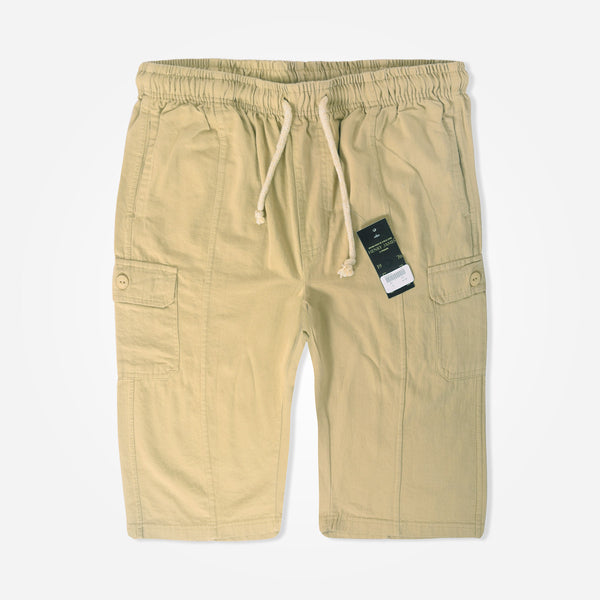 Men's Henry James Khaki Cargo Shorts - klashcollection - 1