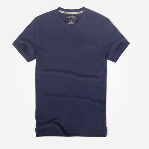 Men's Henry James Short Sleeve Pocket Crew - Navy - klashcollection - 1