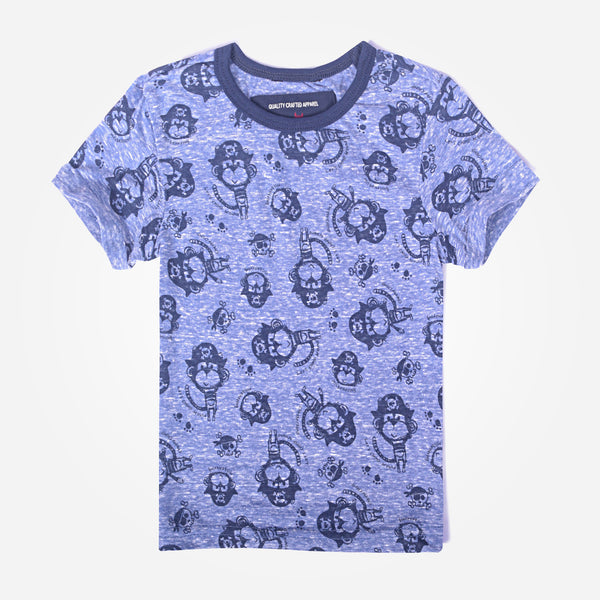 Kids Oliver Duke All Over Printed Ringer T-Shirt - klashcollection - 1