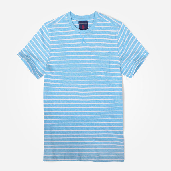 Boys Oliver Duke Turq summer Striped Tee Shirt - klashcollection - 1