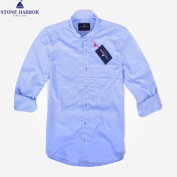 Men's Stone Harbor Double Pocket Hilton Casual Shirt - klashcollection - 1