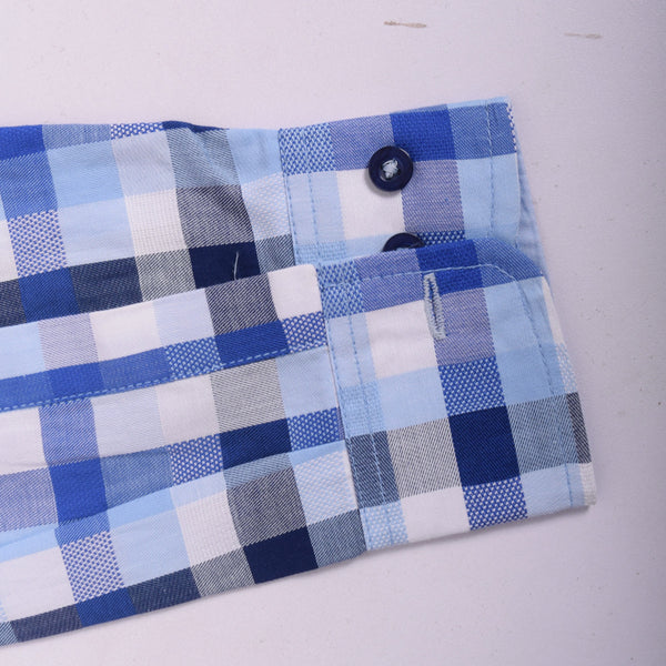 "Men's ""Stone Harbor ""White Check Casual Shirt - klashcollection - 4"