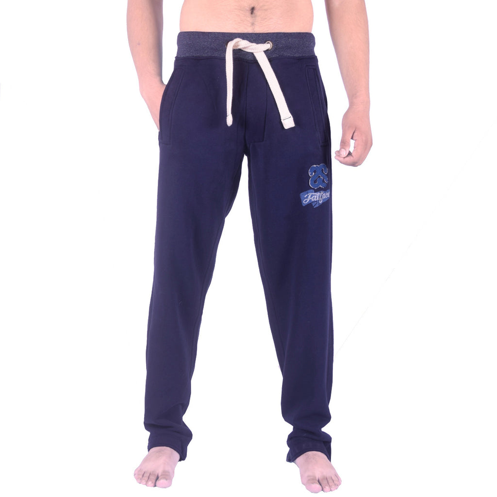 Men's Henry James SS Contrast Ribbed Fleece Jogger - Navy - klashcollection - 1
