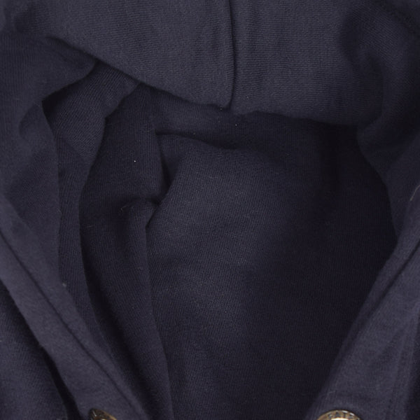 "Women ""TAGG"" Super Soft Zip Through Hoodie With Side Ribbed Panels - Navy - klashcollection - 2"