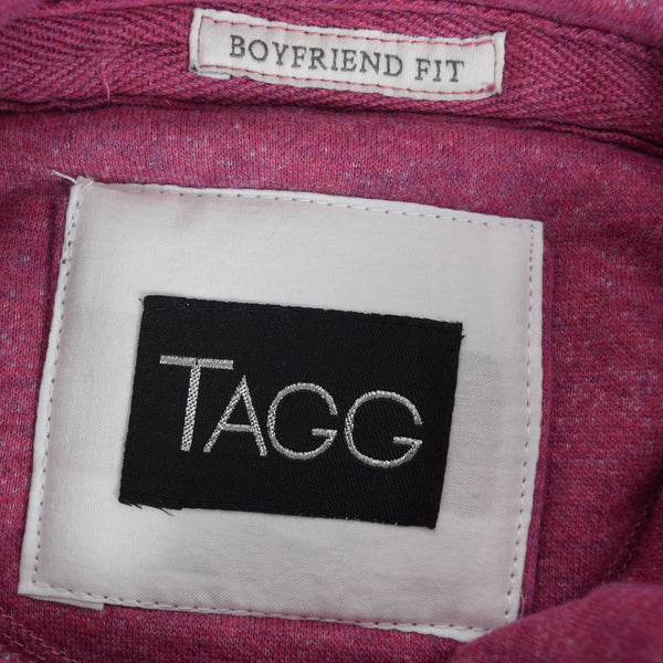 "Women ""TAGG"" Super Soft Heritage Hoody - Pink Marl - klashcollection - 5"
