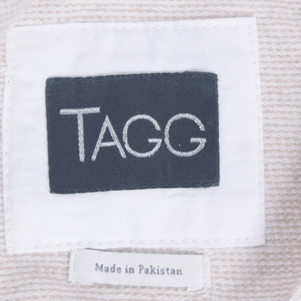 "Women's ""TAGG"" Quarter Sleeve Boat Neck Two tone Terry Top With Front Chest Embroidery - Oatmeal Heather - klashcollection - 10"