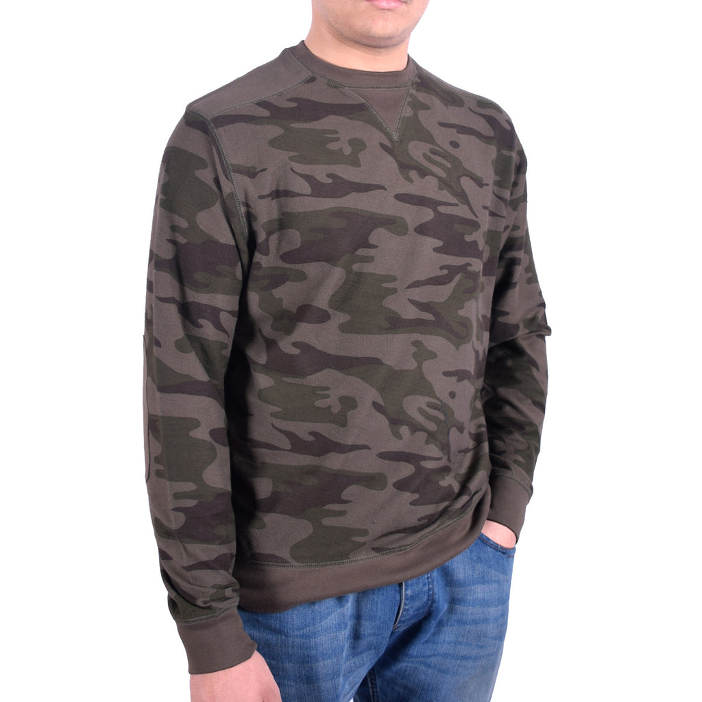 Men's Henry James Camouflage Sweat shirt - Forest Green - klashcollection - 1