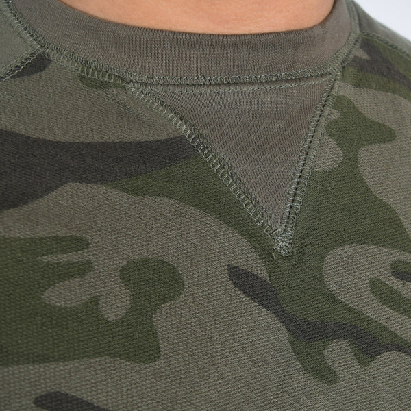 Men's Henry James Camouflage Sweat shirt - Forest Green - klashcollection - 3
