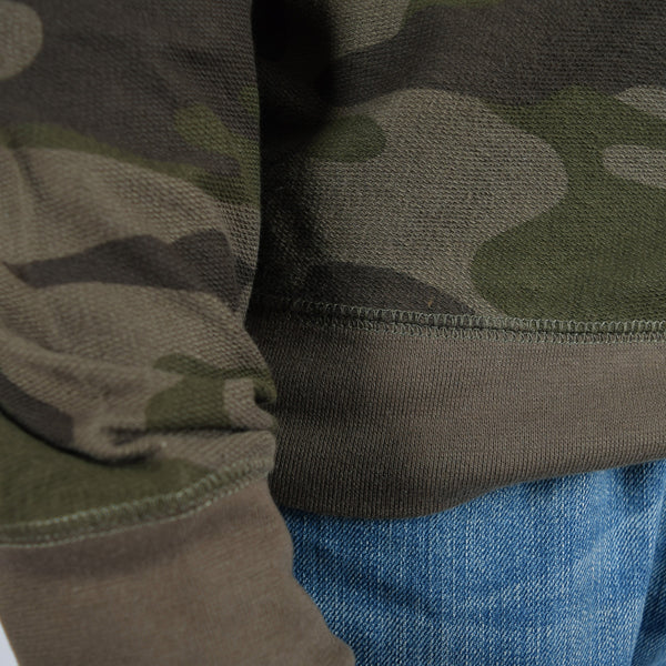 Men's Henry James Camouflage Sweat shirt - Forest Green - klashcollection - 4