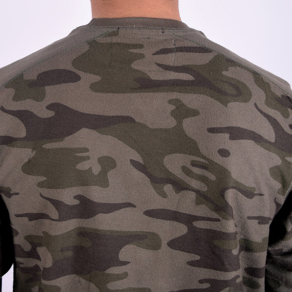 Men's Henry James Camouflage Sweat shirt - Forest Green - klashcollection - 5