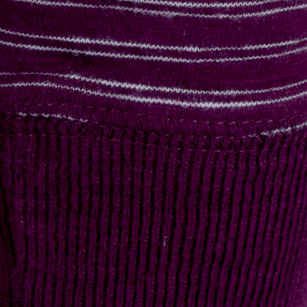 Men's Henry James Slub Stripes long sleeve tee shirt - Burgundy - klashcollection - 2