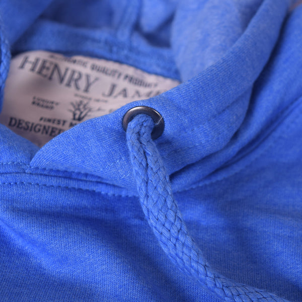 "Men's Henry James ""Super Man"" Pull Over Hoodie - Blue Marl - klashcollection - 3"
