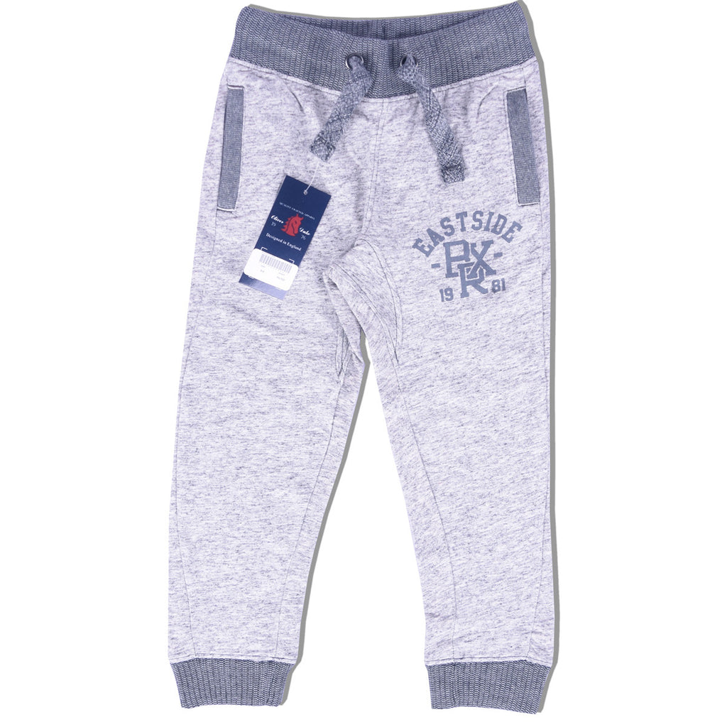 Kids Oliver Duke East Side Slim Fit Closed bottom nap yarn Jogger - off white marl - klashcollection - 1