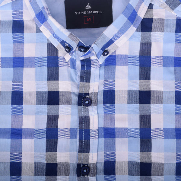 "Men's ""Stone Harbor ""White Check Casual Shirt - klashcollection - 2"