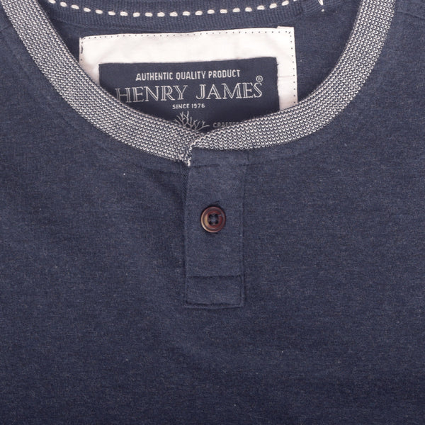 Men's Henry James Feather Soft Textured Ringer Henley T-Shirt - klashcollection - 2