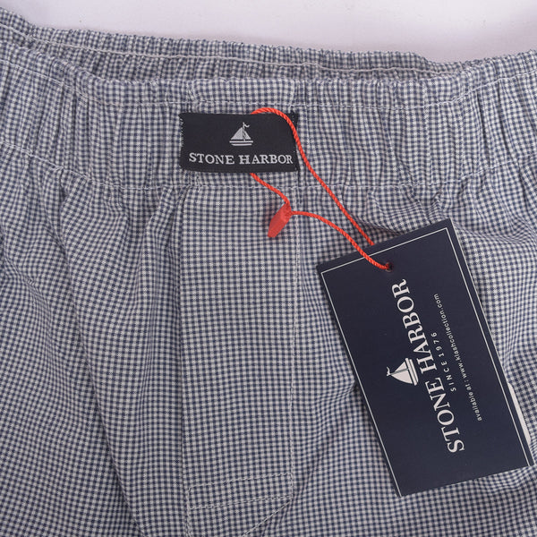 Men's Stone Harbor Black white Brick Check Woven Boxer Short - klashcollection - 2