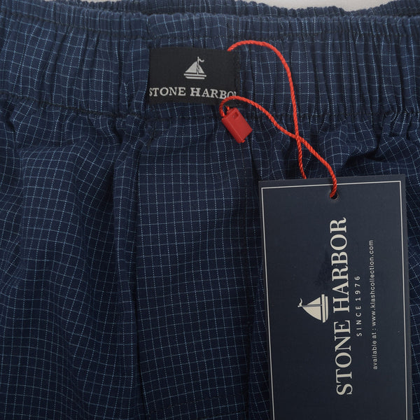 Men's Stone Harbor Navy Sky Brick Check Woven Boxer Short - klashcollection - 2