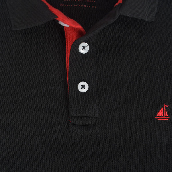 Men's Stone Harbor Contrast Placket Muscle Fit Signature Polo Shirt. - klashcollection - 3