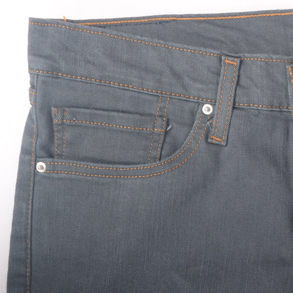 "Men's ""Chelsea Peer"" Charcoal five pocket Slim Fit Stretch Denim - klashcollection - 2"