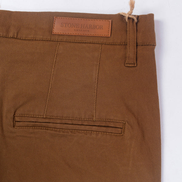 "Men's ""Stone Harbor"" Slim fit Cotton Chino Pant - Dark Brown - klashcollection - 5"