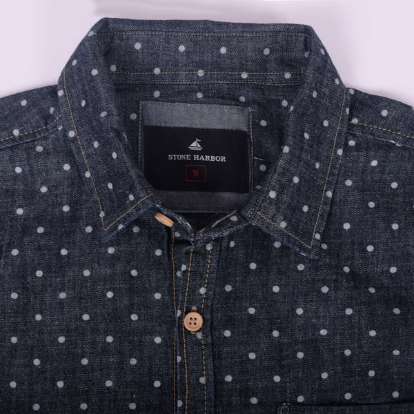 "Men's "" Stone Harbor"" Polka Doted Casual Shirt - klashcollection - 2"