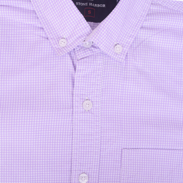 Copy of Men's Stone Harbor Single Pocket Casual Shirt - Light Purple - klashcollection - 2