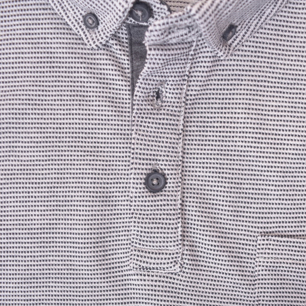 Men's Henry James jacquard Textured  Button Down Polo Shirt - klashcollection - 2