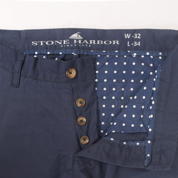 "Men's ""Stone Harbor"" Slim fit Cotton Chino Pant - Executive Navy - klashcollection - 2"