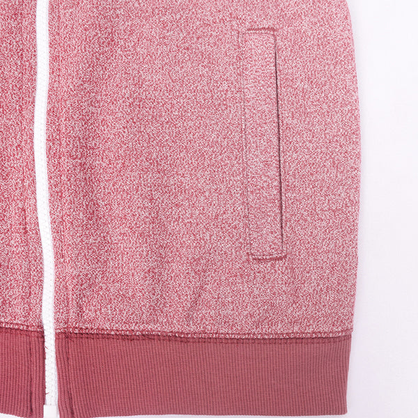 Kid's Henry James zip through hoodie - Pink Marl - klashcollection - 3
