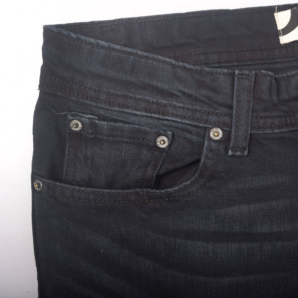 "Men's ""Dressmann"" Texas Black Fade Washed Stretch Denim - klashcollection - 3"