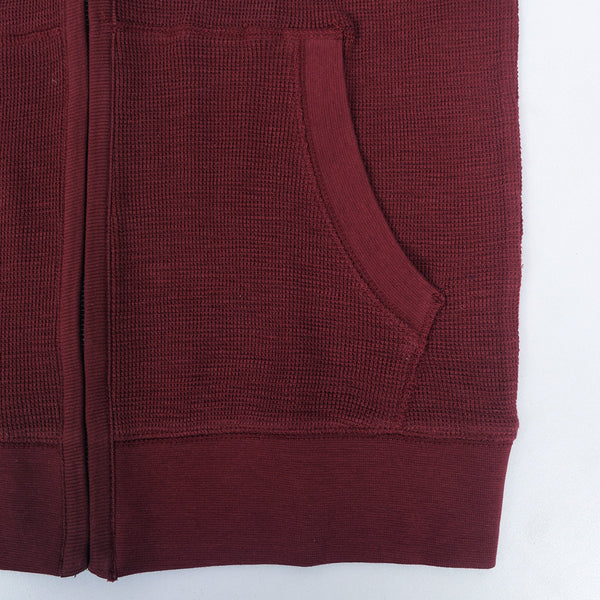 Men's Henry James Kangaroo pocket hoodie - Burgundy - klashcollection - 2