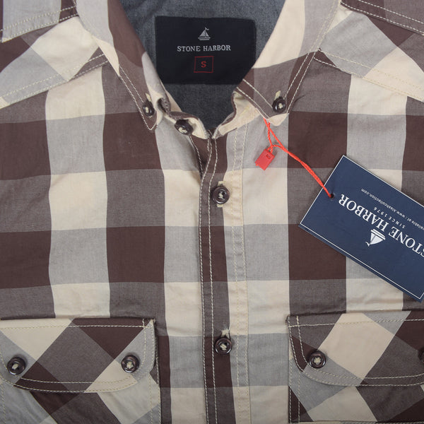 Men's Stone Harbor Double Pocket Congo Checked Casual Shirt - klashcollection - 2