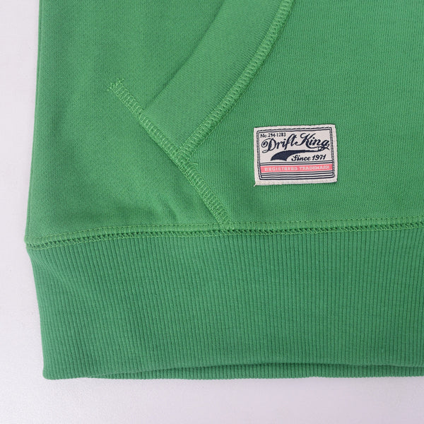 Copy of Men's DRIFT KING  Zip Through Hooded - Emerald Green - klashcollection - 2